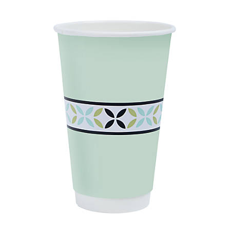 Highmark® Insulated Hot Cups, 16 Oz, 42% Recycled, White, Pack Of 50 Cups