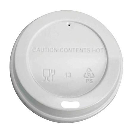 Highmark® Hot Cup Lids, White, Pack Of 500