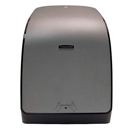 """Kimberly Clark MOD Electronic Paper Towel Dispenser, E Series, 16 7/16""""H x 12 11/16""""W x 9 3/16""""D, Brushed Silver"""