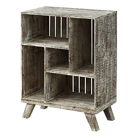 Coast To Coast Crate 5 Cubby Bookcase West Bay White Washed Item 6696659