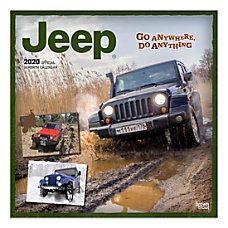 Brown Trout Monthly Wall Calendar Jeep