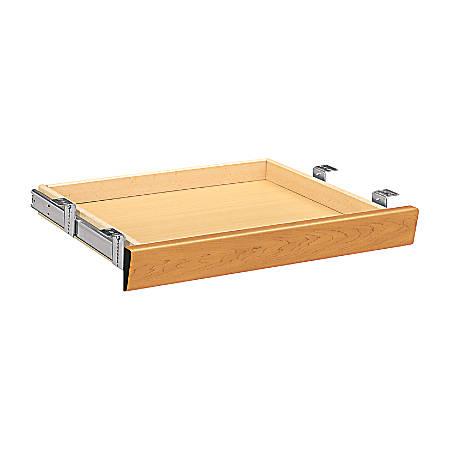 """HON® 10500 Series™ Angled Wood Center Drawer For 66"""" Workstation Desk Or Return, Harvest Cherry"""
