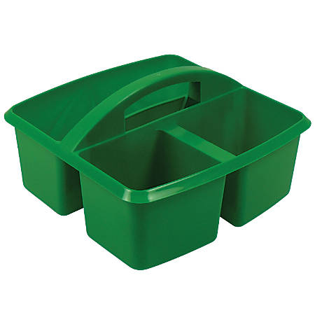 """Romanoff Small Utility Caddies, 9 1/4""""H x 9 1/4""""W x 5 1/4""""D, Green, Pre-K - College, Pack Of 6"""