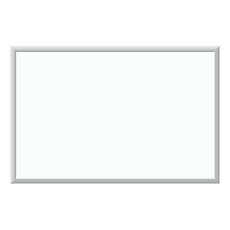 "U Brands Dry-Erase White Board, Melamine, 36"" x 24"", White, Silver Aluminum Frame"