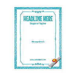 Custom Flyer Vertical Grad Scroll
