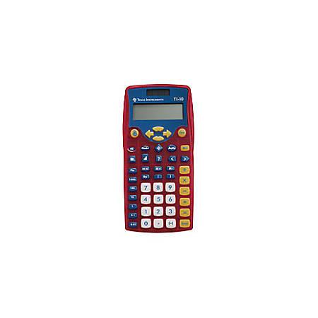 Texas Instruments® TI-10 Calculators, Teacher Kit For Grades K-3, Set Of 10