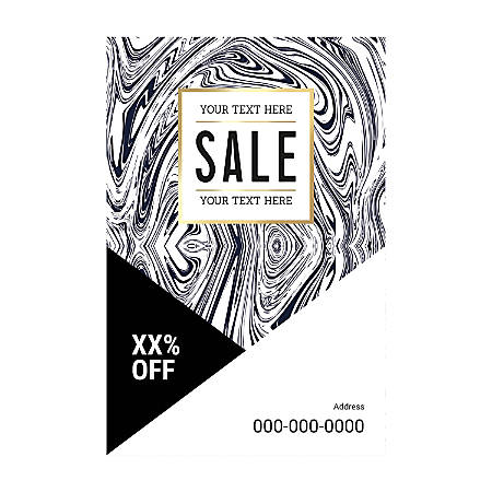 Poster Templates, Vertical, Black And White Wood