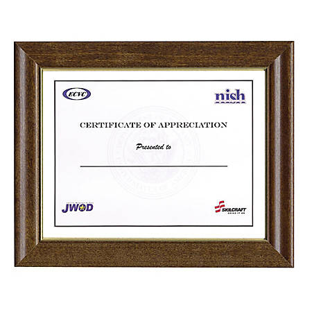 """Picture Frame, 8"""" x 10"""", Cherry, Box Of 10 (AbilityOne 7105-01-282-0630)"""