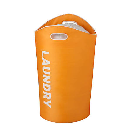"Honey-Can-Do Foam Laundry Tote, 26 7/8"", Orange"