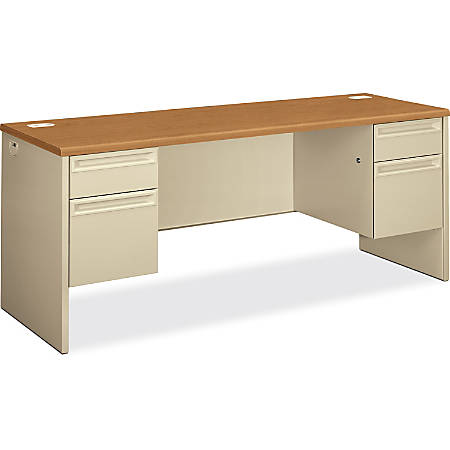 HON®38000 Series Kneespace Credenza, Harvest/Putty