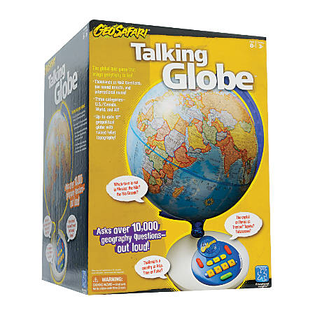 "Educational Insights® GeoSafari® Talking Globe®, 18"" x 12"", Blue/White"