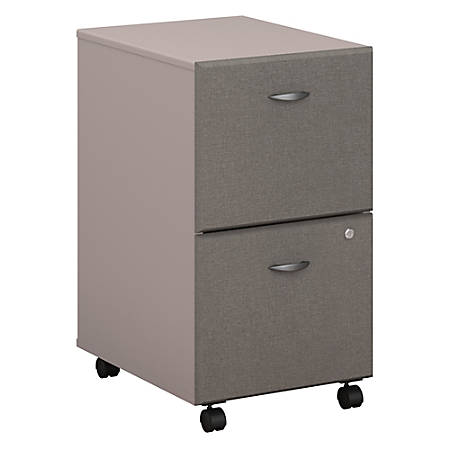 Bush Business Furniture Office Advantage 2 Drawer Mobile File Cabinet, Pewter, Premium Installation