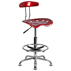 Flash Furniture Vibrant Drafting Stool Wine