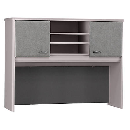 "Bush Business Furniture Office Advantage Hutch 48""W, Pewter/Pewter, Premium Installation"