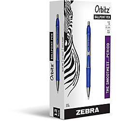 Zebra Pen Orbitz Retractable Ballpoint Pens