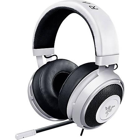 Razer Kraken Pro V2 Headset - Stereo - Mini-phone - Wired - 32 Ohm - 20 Hz - 20 kHz - Over-the-head - Binaural - Circumaural - White