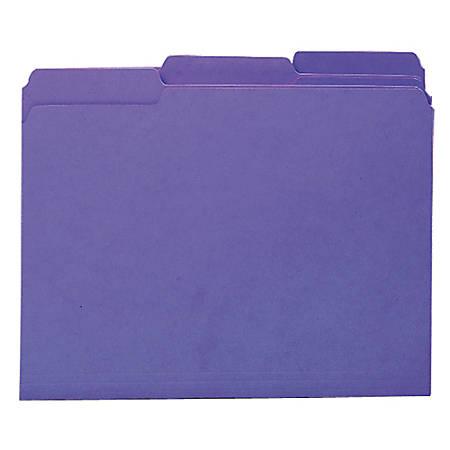 Smead® Interior Folders, Letter Size, Purple, Box Of 100