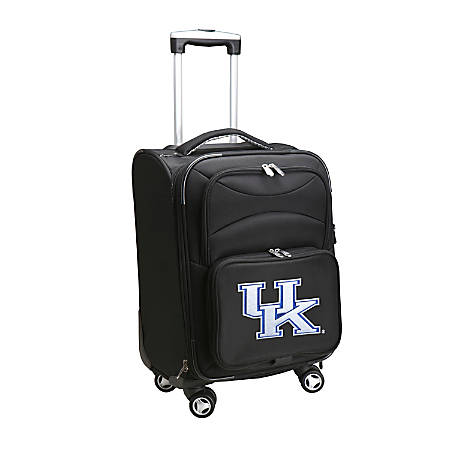 """Denco Sports Luggage Expandable Upright Rolling Carry-On Case, 21"""" x 13 1/4"""" x 12"""", Black, Kentucky Wildcats"""