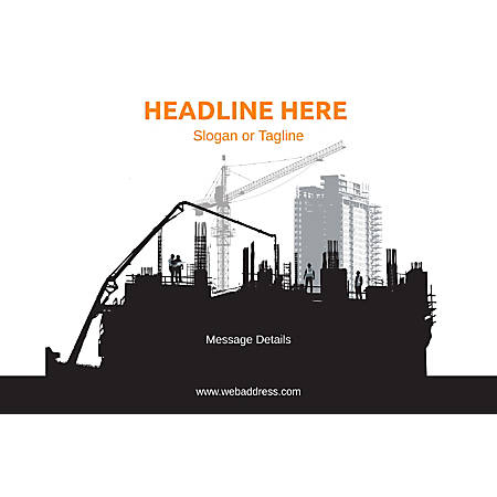 Adhesive Sign, Construction site, Horizontal