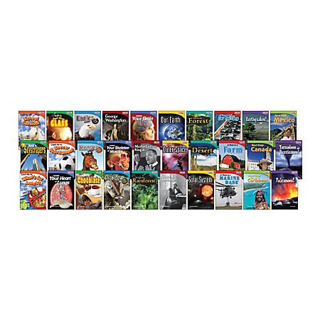 Teacher Created Materials TIME FOR KIDS® Nonfiction Book Set, Set Of 30 Books, Grade 2