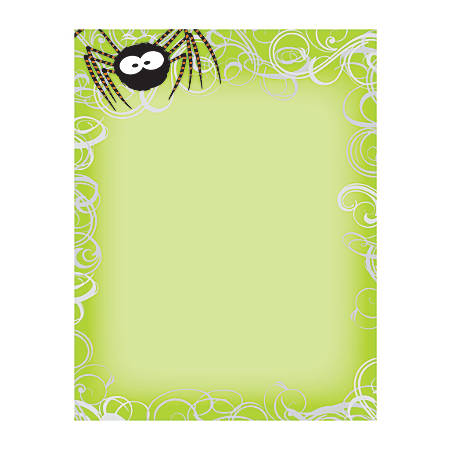 "Great Papers!® Holiday-Themed Letterhead Paper, 8 1/2"" x 11"", Green Spidey Swirls, Pack Of 80 Sheets"
