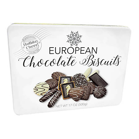 Original Gourmet European Cookies With Tin, 17.6 Oz