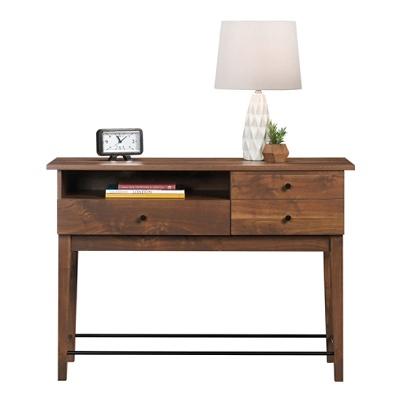 Sauder Harvey Park Sofa Table Rectangle Grand Walnut Metal Item 6708756