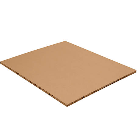 "Office Depot® Brand Honeycomb Sheets, 40""H x 48""W x 1/2""D, Kraft, Case Of 80"