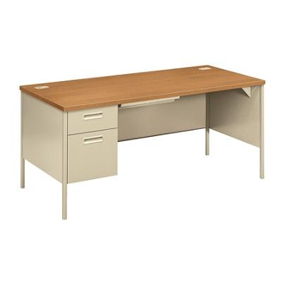 Hon Metro Classic Left Pedestal Desk Harvest Putty Item 671028