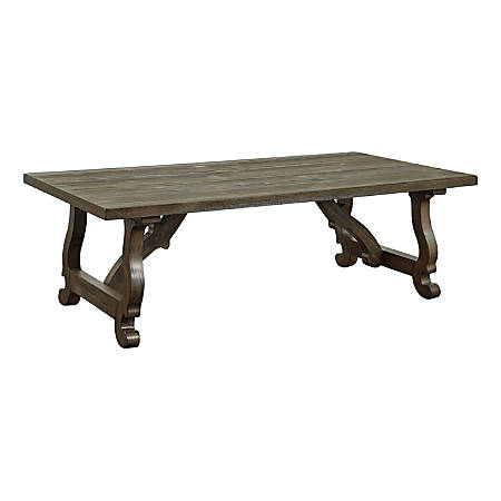 """Coast to Coast Orchard Park 54"""" Wood Cocktail Table, Brown"""