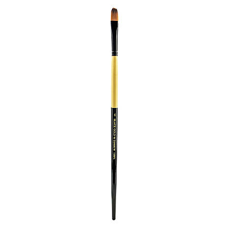 Dynasty Long-Handled Paint Brush 1526FIL, Size 6, Filbert Bristle, Nylon, Multicolor