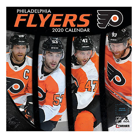 "Turner Licensing Monthly Wall Calendar, 12"" x 12"", Philadelphia Flyers, 2020"