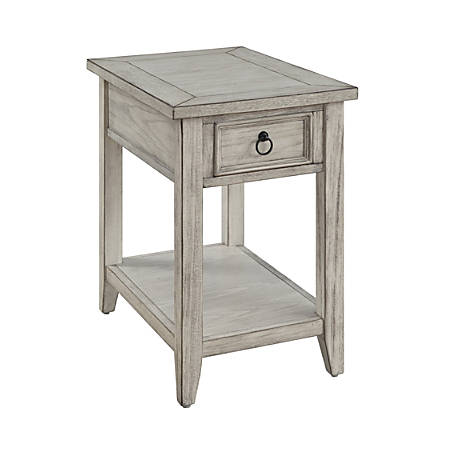 "Coast To Coast Summerville 1-Drawer Chairside Table, 24""H x 16""W x 24""D, White"