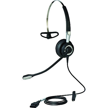 Jabra BIZ 2400 II QD Headset - Mono - Quick Disconnect - Wired - Over-the-head - Monaural - Supra-aural - Noise Cancelling Microphone - Noise Canceling