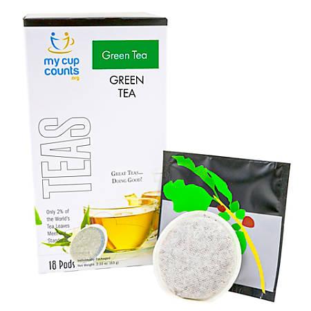 My Cup Counts Tea Pods, Green Tea, Pack Of 36 Pods