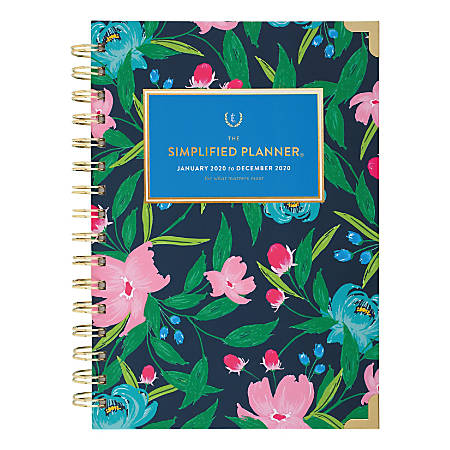 "AT-A-GLANCE® Emily Ley Simplified Weekly/Monthly Hardcover Planner, 6-5/8"" x 8-5/8"", Multicolor, January to December 2020"