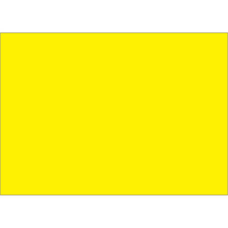 "Tape Logic® Write™On Inventory Labels, DL639L, Rectangle, 5"" x 7"", Fluorescent Yellow, Roll Of 500"
