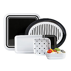GNBI 9 Piece Hostess Set BlackWhite