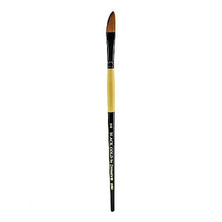 "Dynasty Short-Handled Paint Brush, 3/8"", Dagger Bristle, Synthetic, Multicolor"