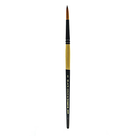 Dynasty Short-Handled Paint Brush, Size 8, Round Bristle, Synthetic, Multicolor