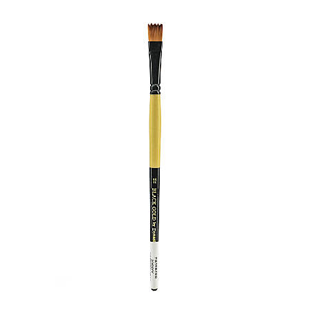 Dynasty Short-Handled Paint Brush, Size 12, Wave Bristle, Synthetic, Multicolor