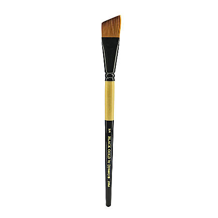 "Dynasty Short-Handled Paint Brush, 3/4"", Angular Bristle, Synthetic, Multicolor"