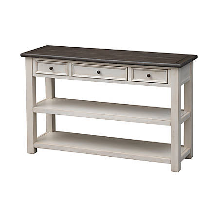 "Coast to Coast St. Claire 3-Drawer Console Table, 30""H x 48""W x 16""D, White"
