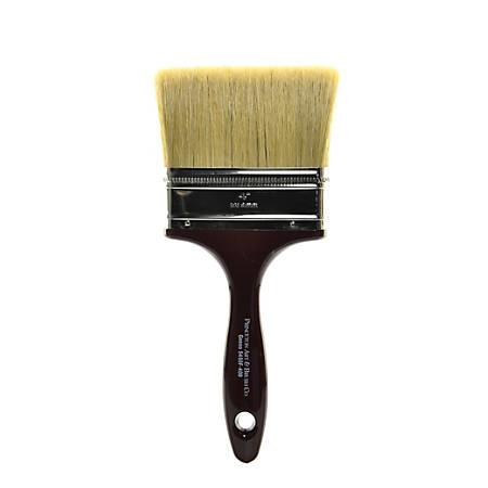 "Princeton Gesso Paint Brush Series 5450, 4"", Flat Bristle, Natural, Burgundy"