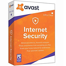 Avast Internet Security 2019 3 PC