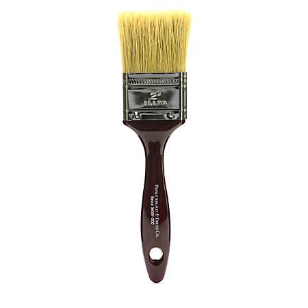 "Princeton Gesso Paint Brush Series 5450, 2"", Flat Bristle, Natural, Burgundy"