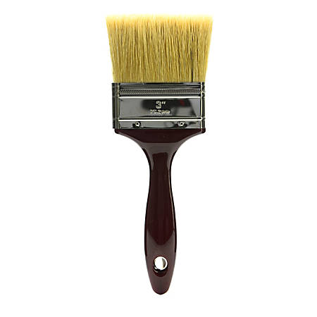 "Princeton Gesso Paint Brush Series 5450, 3"", Flat Bristle, Natural, Burgundy"