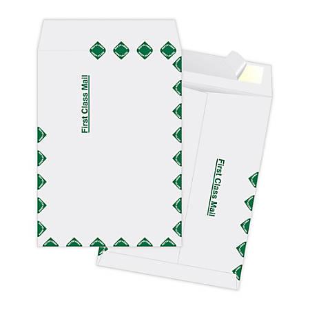 "Quality Park® Ship-Lite Catalog Envelopes, First Class, 9"" x 12"", White, Box Of 100"