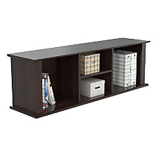 Inval Wall Mounted Laminate Hutch Espresso