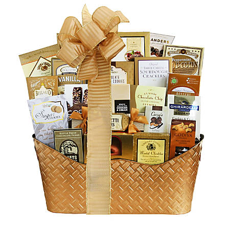 """Givens Gifting Golden Holiday Gourmet, 16""""H X 10""""W X 16""""D"""